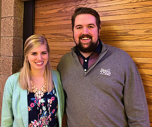 Students Rachael Leystra and Taylor Hakes are this year's recipients of the Golf Course Owners of Wisconsin Scholarship at UW-Stout.