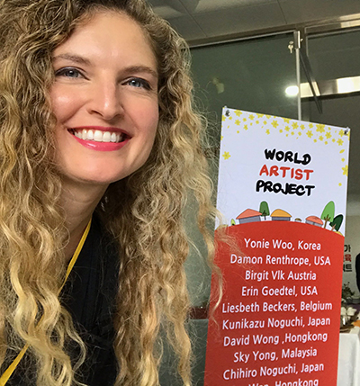 Erin Goedtel, a 2003 UW-Stout graduate, is a full-time artist in the Twin Cities. She recently taught in South Korea as part of the World Artist Education Project.