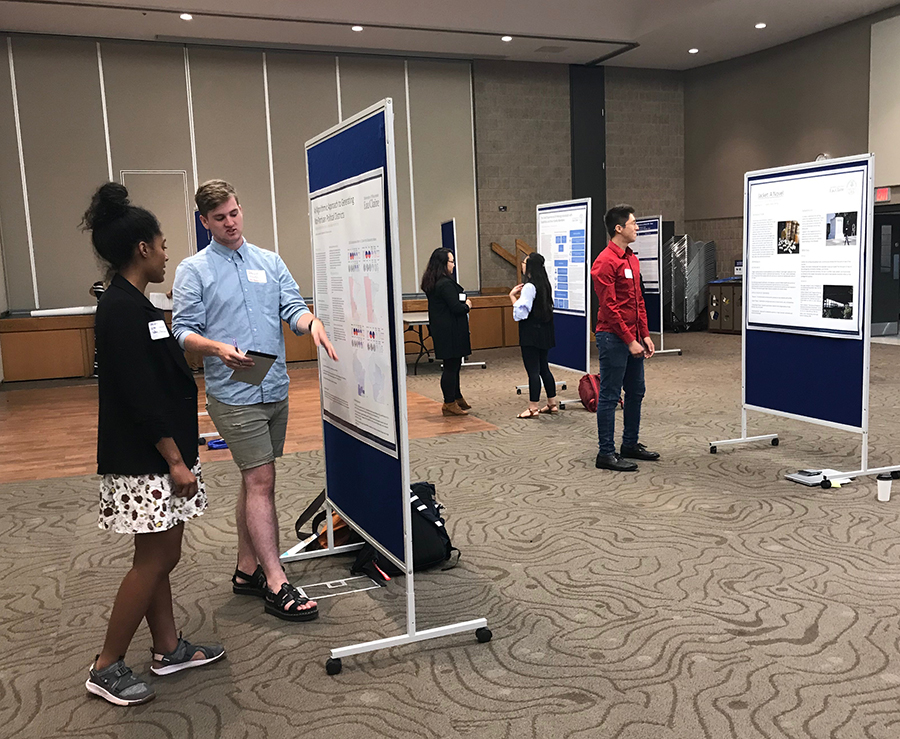Students from UW-Stout, UW-River Falls and UW-Eau Claire presented research during a McNair Scholars Program event at UW-Stout.