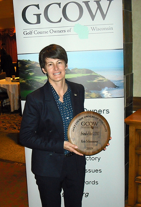 Kris Schoonover with her GCOW award.