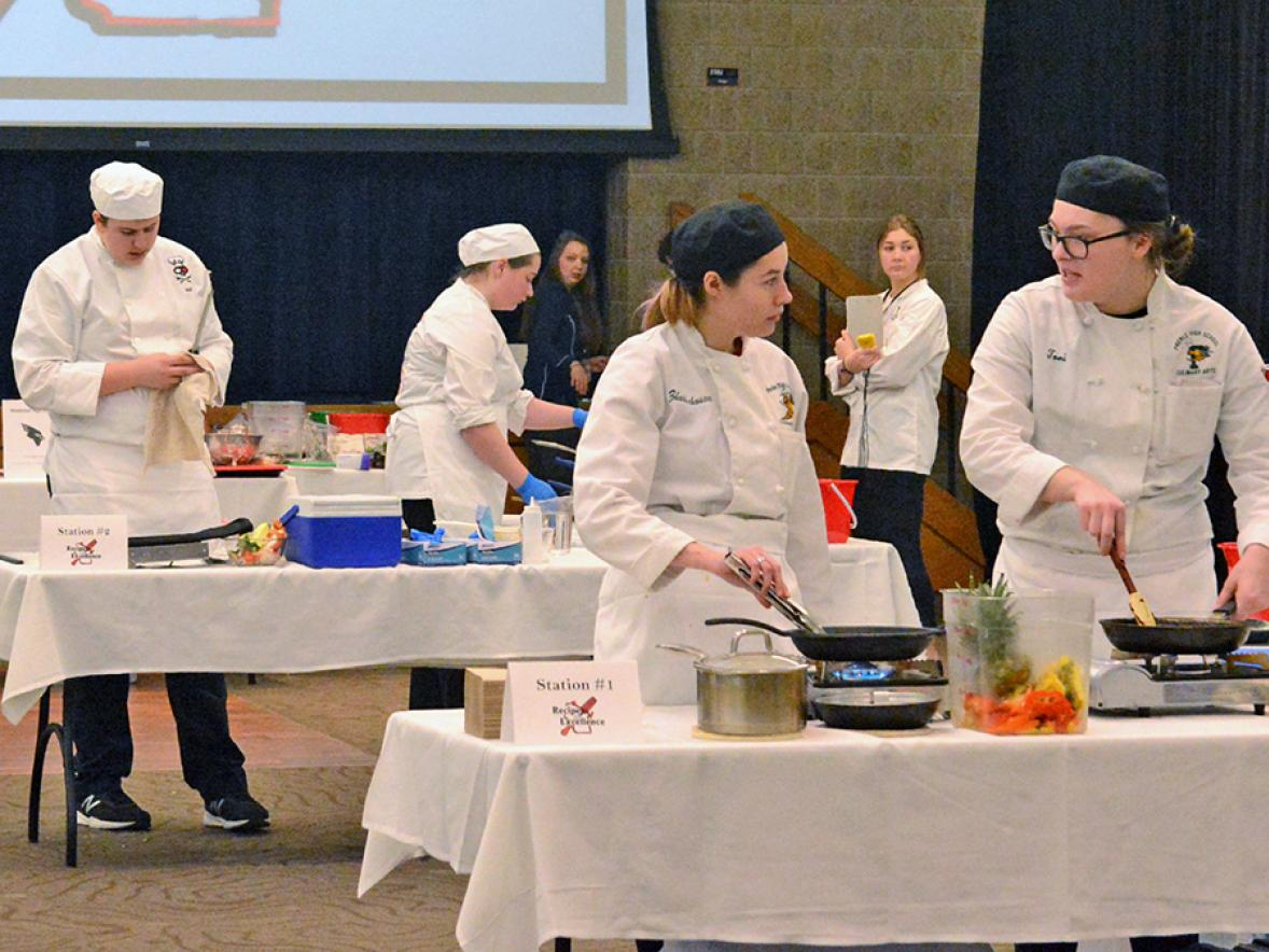 Seven teams of high school students competed Feb. 13 in UW-Stout's Recipe for Excellence