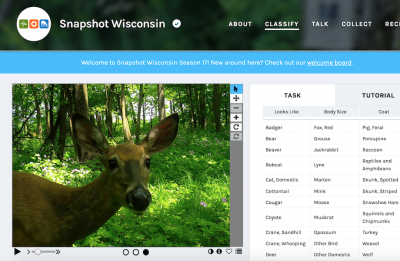 Screenshot of the Snapshot Wisconsin website.